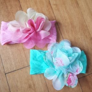 Other - 🌺 2 FLOWER INFANT HEADBANDS